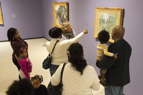 Visitors enjoy a family fun tour